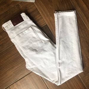 Zara white denim skinny ankle jeans